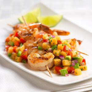 Shrimp with Cantaloupe Salsa_1965