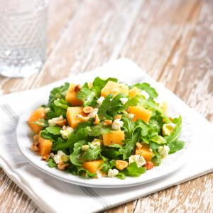 Cantaloupe Salad with Arugula, Hazelnuts, and Feta – California ...