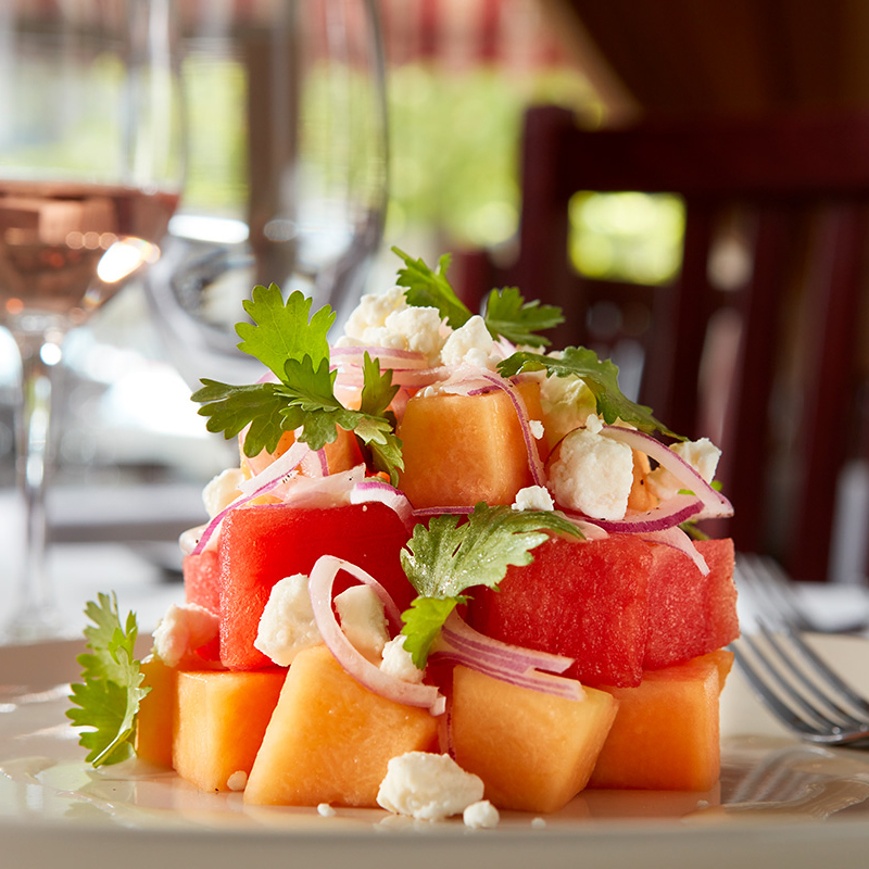 Trelio Recipe Cantaloupe and Watermelon Salad