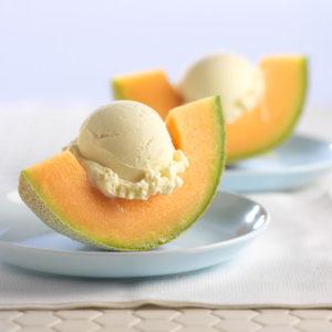 Cantaloupe with Ice Cream_2144